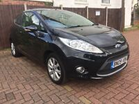 FORD FIESTA 1.25L METALLIC BLACK 2009-12 MONTHS MOT-IMMACULATE CONDITION LOW MILLAGE 60K FROM NEW