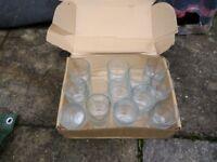 25 Small glass tumblers