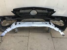 MERCEDES C CLASS C300 CABERIOLET 2016 GINUINE FRONT BUMPER FRONT PANEL AND REINFORCER