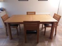 M&S Sonoma dining table and 4 chairs