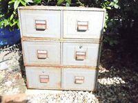 6 metal drawers