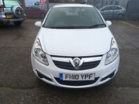 Vauxall corsa 1.0 engine white one former owner mot until 20/12/17 recently been service