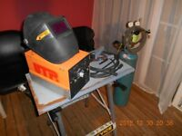 Stubs Welding 130 Amp DC Tig and Arc welding set with Argon Bottle