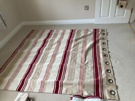 Red stripe curtains