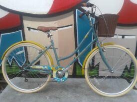 NEW Elswick Liberty 700C Ladies Heritage Hybrid Road Bike Basket RRP £329