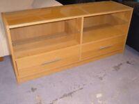 Ikea Light Oak Finish Media Cabinet. Good Condition