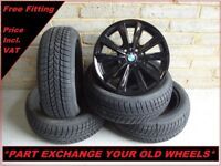 """2243 Genuine 17"""" BMW 236 5 Series F10 6 Series F12 Alloy Wheels And Winter Tyres"""