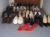 25 pair ladies shoes, size 6, incl red Dior sandals, Jones, Carvela and Autograph etc