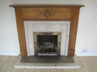 Reclaimed detailed timber fireplace