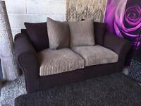 New 3 Seater Sofa New Aniston 3 Seater Sofa In Chocolate and Mink Fabric