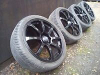 "17"" Alloy wheels 4x100-4x108 Mini-Vauxhall-Honda-Rover-Mg-Ford Fiesta"