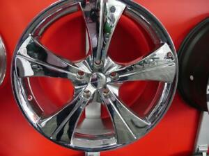 20 INCH NEW CHROME RIMS - 5X120 + 5X112 - WHEEL SALE ON NOW - 5 STAR