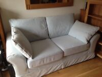 Beautiful NEXT two seater settee in powder blue