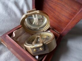BRASS SEA COMPASS