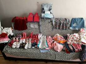 Clothes and shoes bundle for girl size 1-2-3 y.o