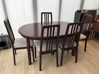 Mcintosh dining table and chairs
