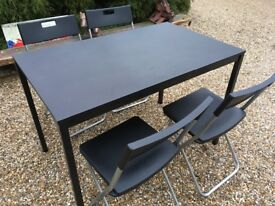 Dinning Table and 4 Fold Up Chairs