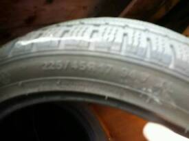 Winter tyres nearly new
