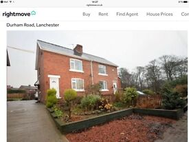 Two Bed House in Lanchester with Cash Back / 5% Deposit Paid. 95% mortgage available now.
