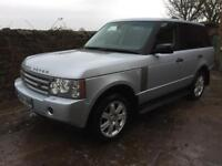Range Rover 3.6 tdv8 vogue silver with black leather