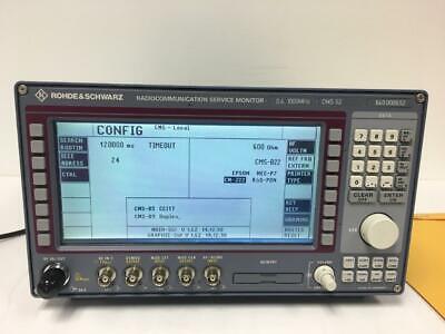 Rohde Schwarz Cms52 Radiocommunication Service Monitor - Calibrated