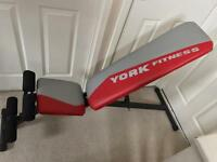 York Aspire 2 in 1 foldable Dumbbell & Ab Bench as new