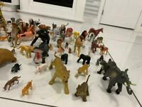 Collection of animals toys
