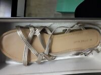 Gold Sandals -Size 8 - Used but in Very Good Condition