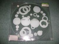 4 Glass Placemats and Coasters, perfect condition (ideal for Christmas dinner table) - £4