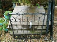 Vintage Solid cast iron garden gate