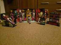 Monster high dolls, accessories and play sets