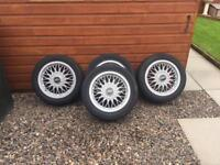 """Bbs 4x100 15"""" alloy wheels and tyres"""