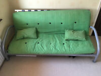 Sofa bed with metal frame, approx 6ft x 4ft in size