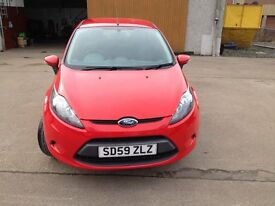 59 plate new shape ford fiesta 1.2 style 5dr colorado red £3600