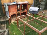 Rabbit Hutch plus Run for sale