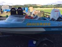 Shockwave marina speed boat with Suzuki 50hp outboard