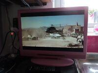 Pink Alba LCD Freeveiw Television
