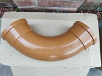 Underground Drainage Pipe Long Radius Bend Fitting, Bran New, 110mm Diameter