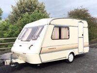 Elddis Whirlwind 2 Berth Caravan With Awning - Lightweight Caravan