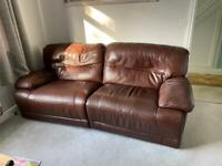 2 seater Electric reclining leather sofa