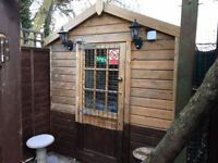 Garden Cabin/Office/storage 1 inch thick cladding on outside