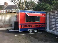 Burger van ready for work