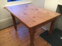 Vintage solid pine table