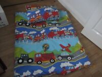 TRAVEL COT BEDDING - AS NEW - £10.00