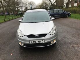 2007 FORD GALAXY ZETEC TDCI MANUAL LONG MOT SILVER 7 SEATER CHEAP CAR MPV LOOK BARGAIN