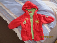 GIRLS SPRING/AUTUMN JACKET and sweater 1,5 -2 yrs old