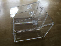 Perspex pick and mix acrylic holder with 3 lift up flaps - 8 No available