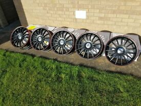 18 inch Team Dynamics Monza RS alloy wheels x 5