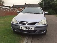 Vauxhall Corsa 2005, Hatchback 90000 miles Manual 1364cc Petrol+One Year MOT+Warranted mileage