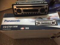 Panasonic car stereo and alpine speakers